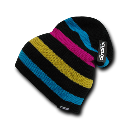 CUGLOG Monte Fitz Roy Striped Pattern Slouch Beanie, Style