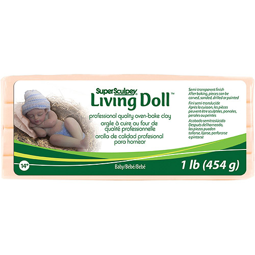Super Sculpey Living Doll Clay 1lbs