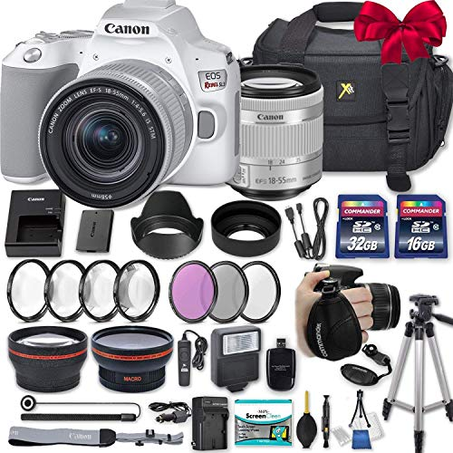 High Definition Wide Angle Auxiliary Lens Canon 18-55mm is Lens White Box + Deluxe Lens Cleaning Pen Deluxe Lens Blower Brush