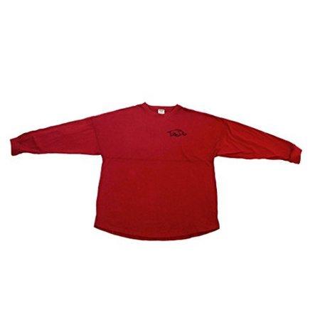 Arkansas Cycling Jersey - Pressbox Women' s NCAA Arkansas RazorbacksVarsity Jersey Oversized Sweeper Shirt