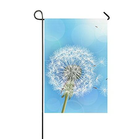 MYPOP Flower Dandelion Blowing Seeds Yard Garden Flag 12 x 18 Inches (Yard Flag)