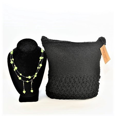 Gold Coast Crochet Bag With Necklace and Earrings -
