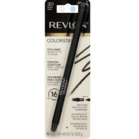 Revlon ColorStay Eyeliner Pencil, Black [201], 0.01 oz (Pack of 2)