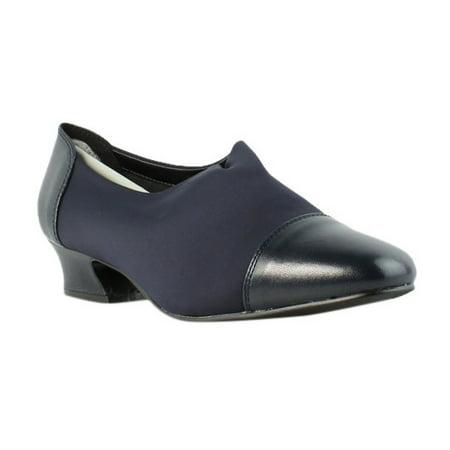 c34b4db10a David Tate - David Tate Marina Navy Nappa/Micro Mules Womens Heels Size 9  New - Walmart.com