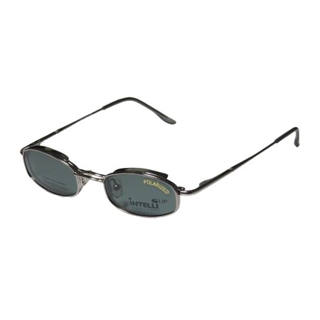 New Elite Discontinued Style Clipon Eyewear 764 Mens/Womens Designer Full-Rim Graphite Frame Demo Lenses 41-19-130 Sunglass Lens Clip-Ons Spring Hinges Eyeglasses/Eyeglass (New Sunglass Styles)