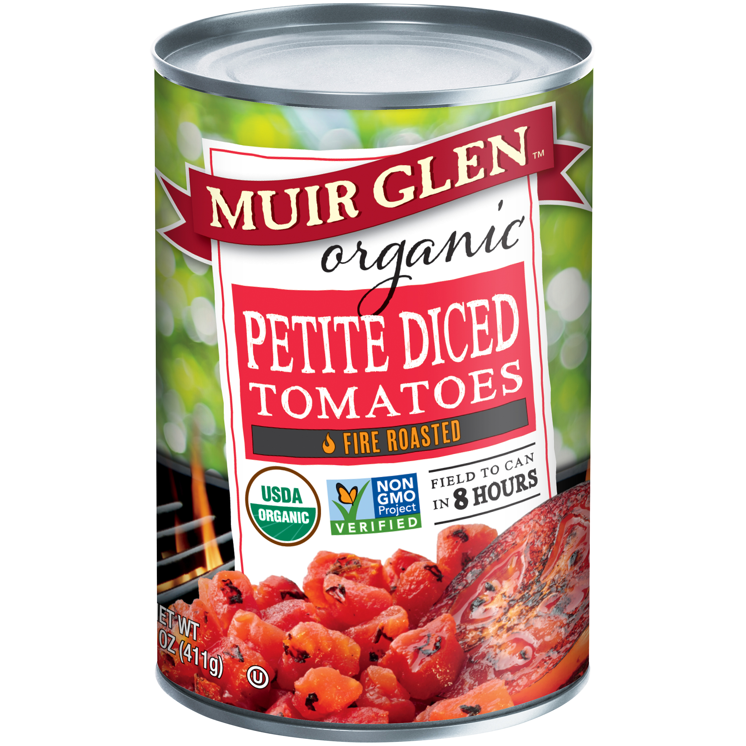 Muir Glen��� Organic Fire Roasted Petite Diced Tomatoes 14.5 oz. Can