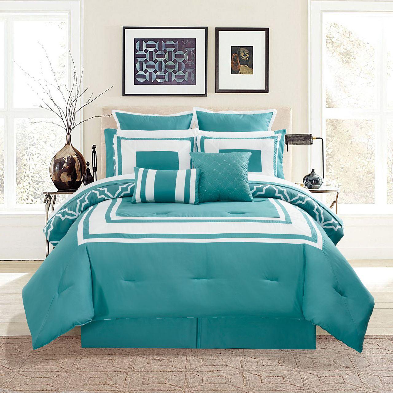 12 Piece Bernard Burgundy Comforter Set with Sheets