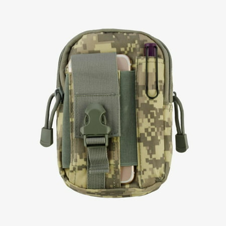 Heavy Duty Canvas Sports Activity Waist Pack Pocket Belt for OnePlus 5T, 5, 3T, OnePlus 3, 2, One, X (ACU) + MND Mini Stylus