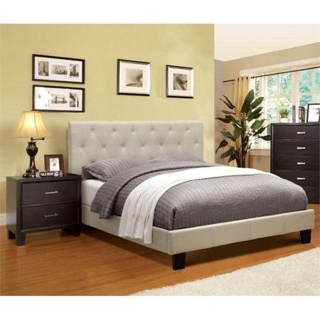 Furniture of America Warscher 2 Piece Upholstered King Bedroom Set ()