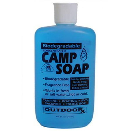 Outdoor RX Biodegradable, Concentrated, Fragrance Free Camp Soap, 8 Ounce - Free 8 Ounce Fragrance