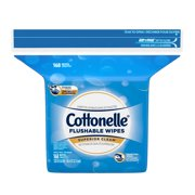 Cottonelle FreshCare Flushable Wet Wipes Resealable Refill Pack, 168 Wipes Per Pack