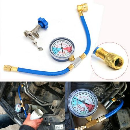 R134a Charging Hose Set (250PSI 1/4'' R134A R12 R22 Recharge Measuring Hose Gauge Valve Refrigerant Pipe )
