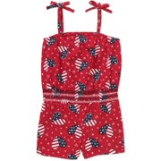 Baby Toddler Girl Tie Top Knit Romper