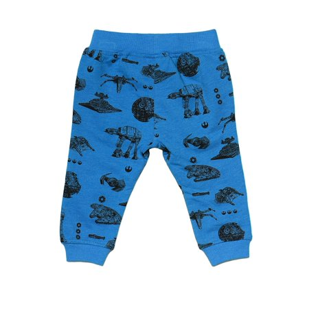 Infant Sweatpants - Toddler Infant Boys Star Wars Blue Sweat Pants All-Over Print Baby