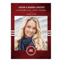Textured Monogram Graduation Invitation