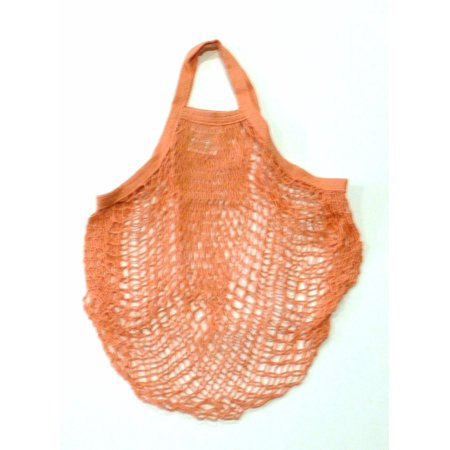 ECOBAGS, Market Collection, String Bag, Tote Handle 10 in, Coral Rose, 1 Bag(pack of 4) - Coral Tote Bag