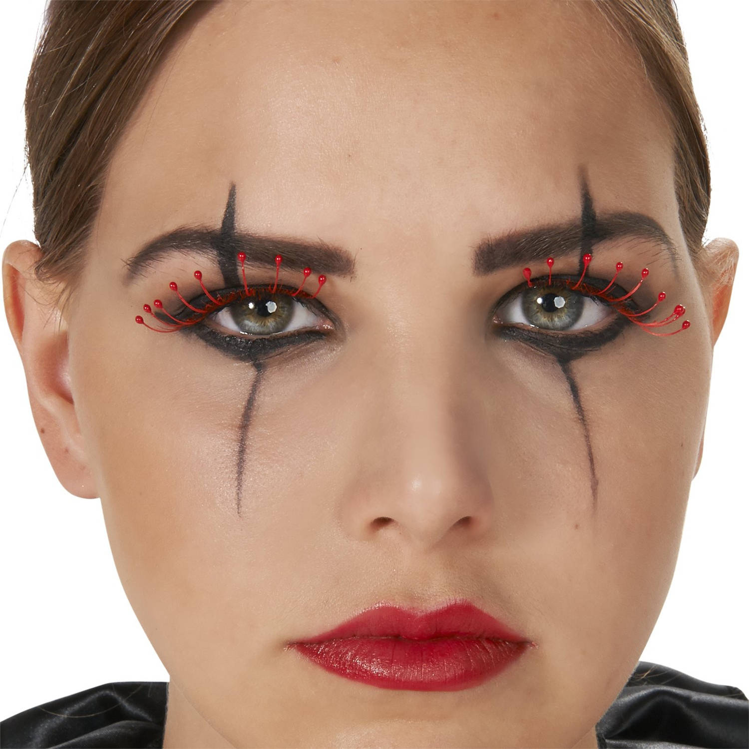 Pink Polka Dot Eyelashes Halloween Accessory