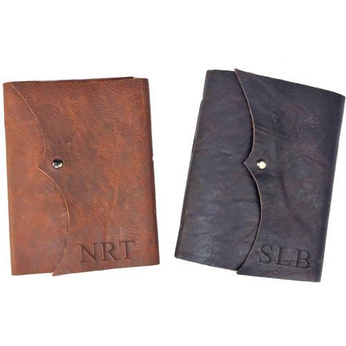 Personalized Genuine Medium Writing Journal with Knob Closure