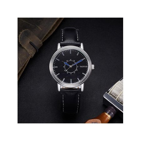 - Business Fashion Men Luxury Waterproof  Analog Clock Watches Quartz  Wristwatch Gifts