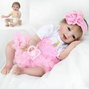 "Ktaxon  22"" Lifelike Handmade Reborn Baby Doll Girl Newborn Lifelike Soft Vinyl Silicone Gift"