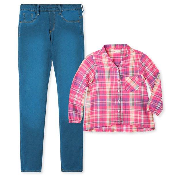 Offcorss Offcorss Big Girl Leggings Shirts For Girls Blusas Pantalones De Ninas Blue 6 Walmart Com Walmart Com