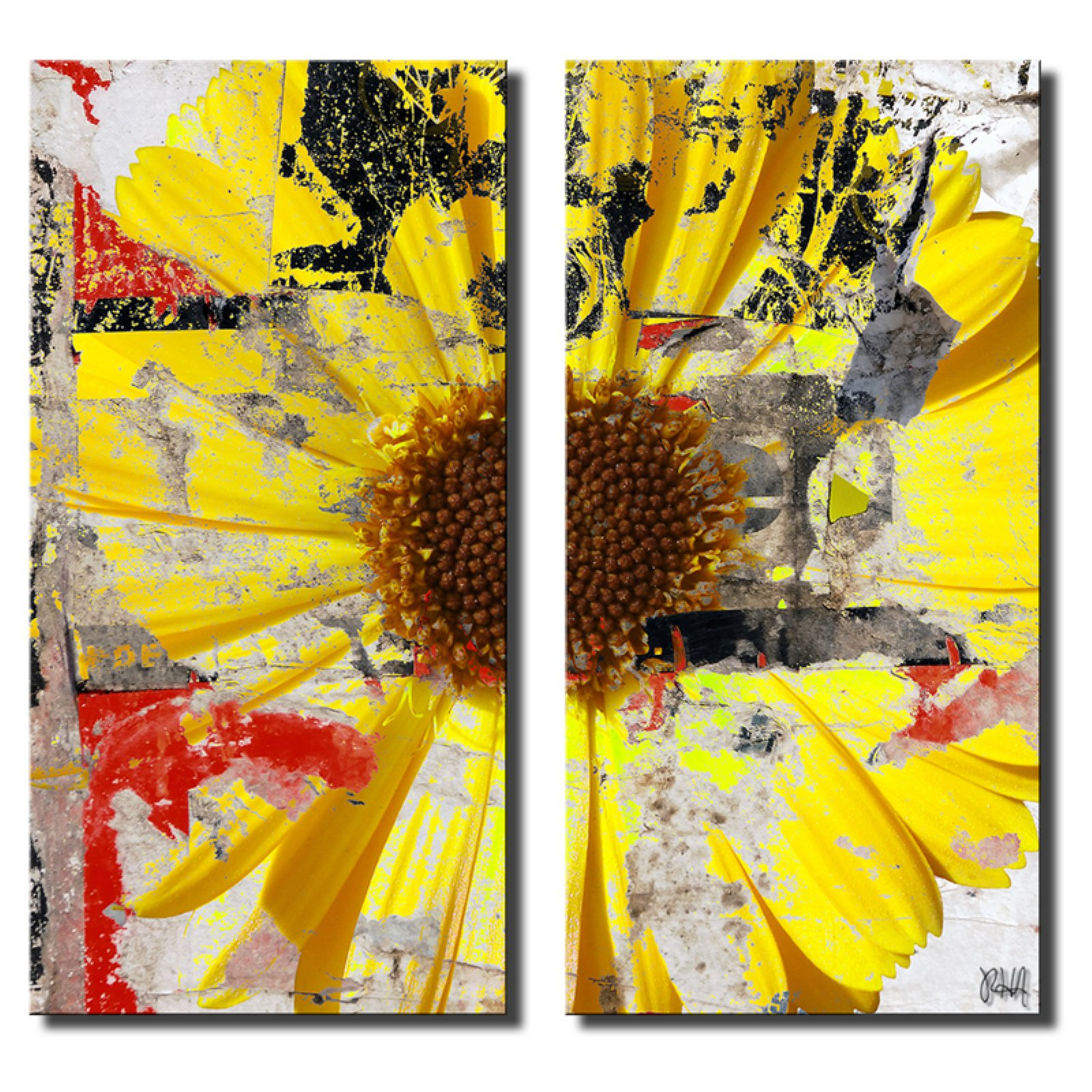 Ready2HangArt Painted Petals LXXIX Canvas Wall Art - 2 pc. Set
