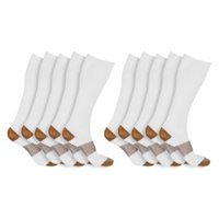 Unisex Copper-Infused High-Energy Compression Socks (5 Pairs)