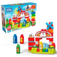 Mega Bloks First Builders Musical Farm with Big Building Blocks, Building Toys for Toddlers (46 Pieces)