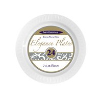 "1 - Party Essentials 7.5"" Elegance Salad Plates - White 24 Ct."