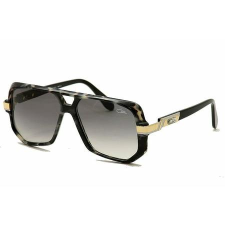 Cazal 627/3 627-3 90SG Marble Grey/Black Retro Square Sunglasses (New Cazal Sunglasses)