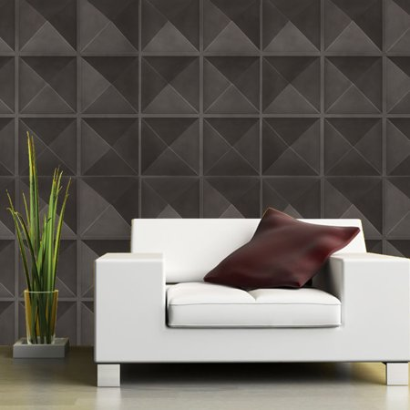 12 Tiles 32 Sq Ft 3D Textured Wall Panels Textured Wall Design Board Sticker White Brick Wallpaper Wall Decal TV Walls DIY Home Decal (Wallpapers Halloween 3d Gratis)