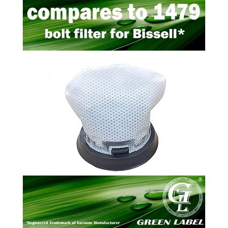 Filter Boost - For Bissell Bolt Vacuum Filter (compares to 1479, 1604734) for Lightweight Cordless Vacuum 1313V. Genuine Green Label Product