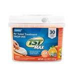 Camco 41183 TST Orange Citrus Scent RV Toilet Treatment Drop-Ins for RV Use - 30-Pack