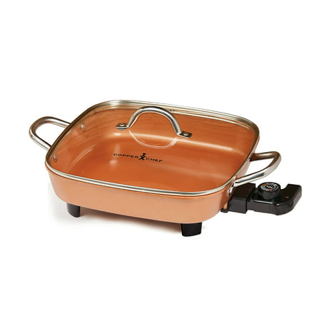 "Copper Chef 12"" 1-Piece Electric Skillet"