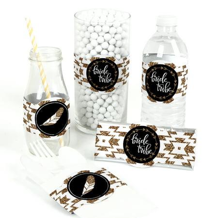 Diy Bridal Shower Favors (Bride Tribe - DIY Bridal Shower & Bachelorette Party Wrappers - Bachelorette Party Decorations - Set of)