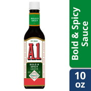 (2 Pack) A.1. Bold & Spicy Sauce, 10 oz Bottle