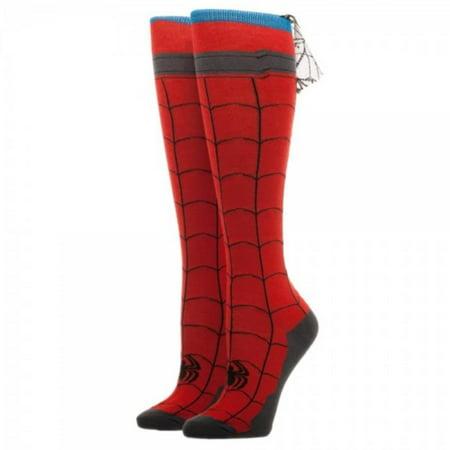 Spiderman - Knee High Cape Sock Apparel Socks - Red (Fifties Sock Hop Clothes)