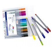 Maven Gifts: Stress-Relief Coloring Bundle - Studio Series Blooms, Birds, & Butterflies 31-Pg Adult Coloring Book with Staedtler Triplus Fineliner 0.3mm Pens - 20 Brilliant Colors w/ Sturdy Easel Case