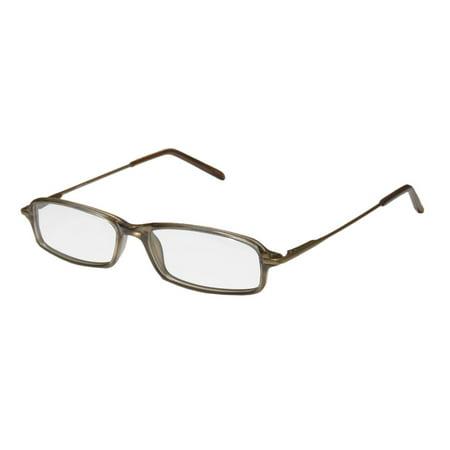 New D&a Ensign Mens/Womens Designer Full-Rim Liquid Gold / Sand Fabulous Affordable Sleek In Style Frame Demo Lenses 49-15-140 Spring Hinges Eyeglasses/Eye Glasses ()
