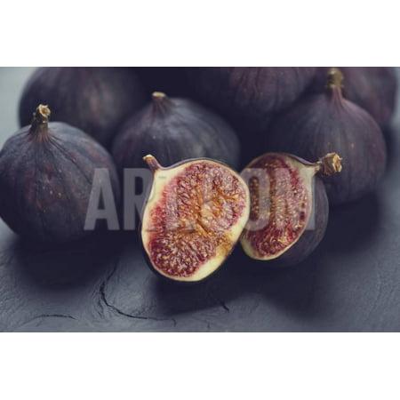 Still Life Fruits: Ripe Figs, Close-Up Print Wall Art By Nickola_Che
