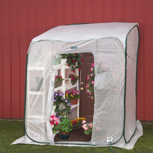Flowerhouse Hothouse 6 Ft. W x 6 Ft. D Polyethylene Lean-To Greenhouse