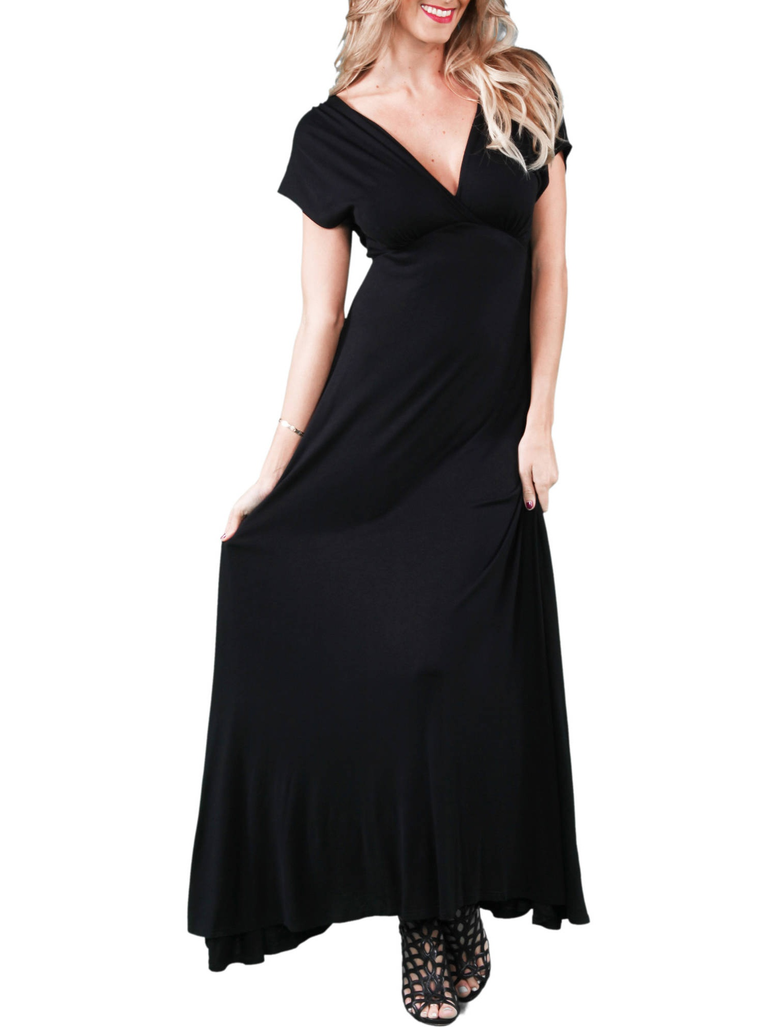 Women's Faux Wrap Maxi Dress