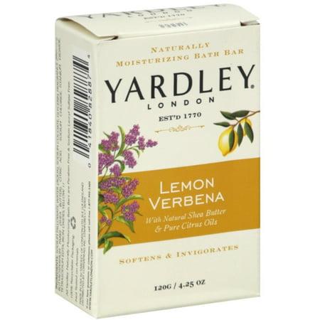 Yardley London Moisturizing Bar, Lemon Verbena With Shea Butter 4.25 oz
