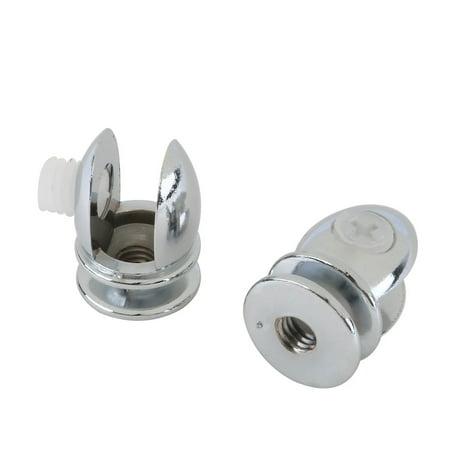 Home Zinc Alloy Adjustable Door Glass Clamp Brackets Clips Holder Support 6pcs - image 4 of 5