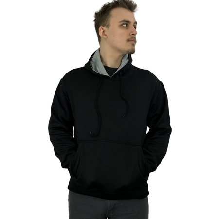 Athletic Mens Comfort Fleece Pullover Hooded Sweatshirt (Athletic Nylon Pullover)