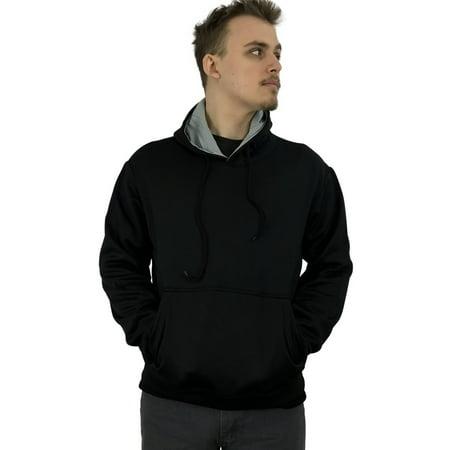 Athletic Mens Comfort Fleece Pullover Hooded Sweatshirt