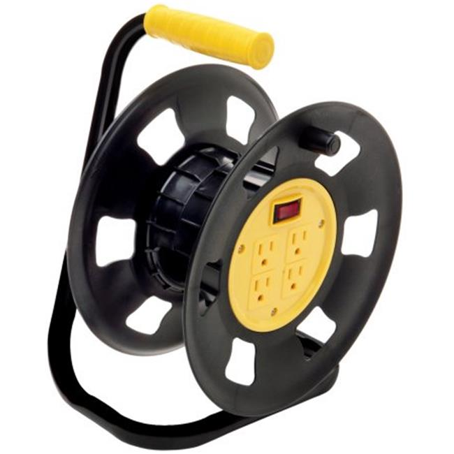 Coleman Cable E-230 4-Outlet Retractable Extension Cord Reel