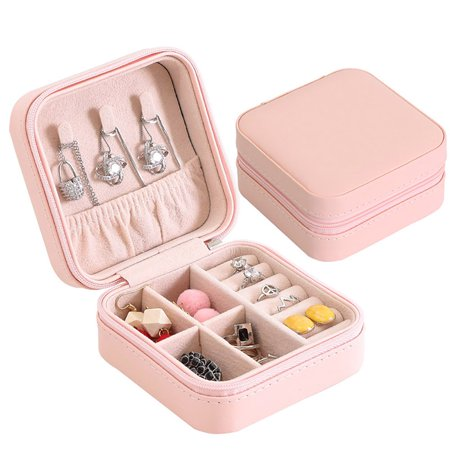 Small Travel Jewelry Box Organizer Faux Leather Storage Case For Rings Earrings Necklace Best Gifts Choice S Women