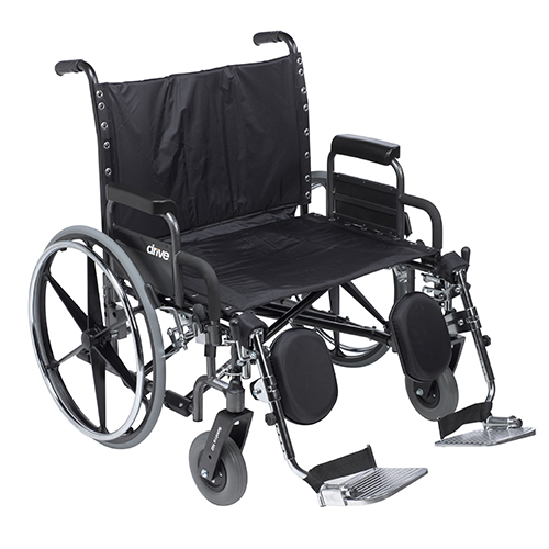Drive Medical Sentra Heavy Duty Wheelchair With Detachable Desk Arm and Elevating Leg Rests, 30 inch Seat