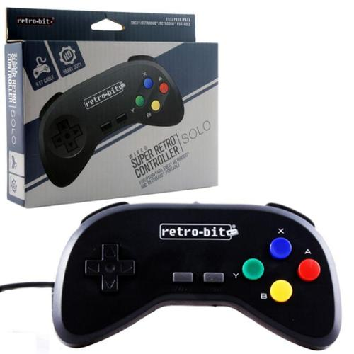 2-Pack Wired Controller For Super Nintendo Entertainment System Black